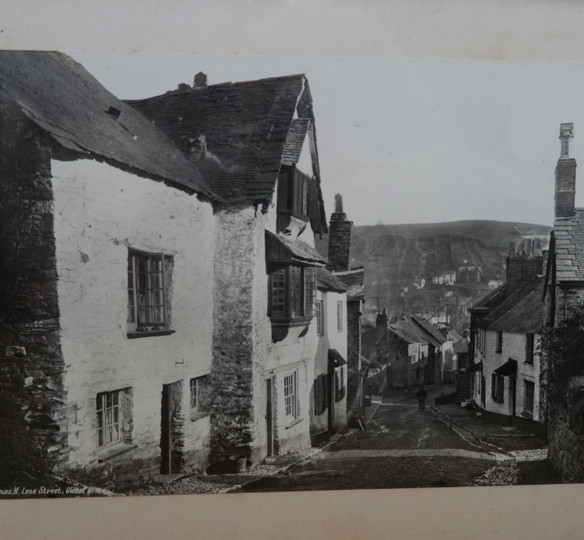 Old photograph showing street view