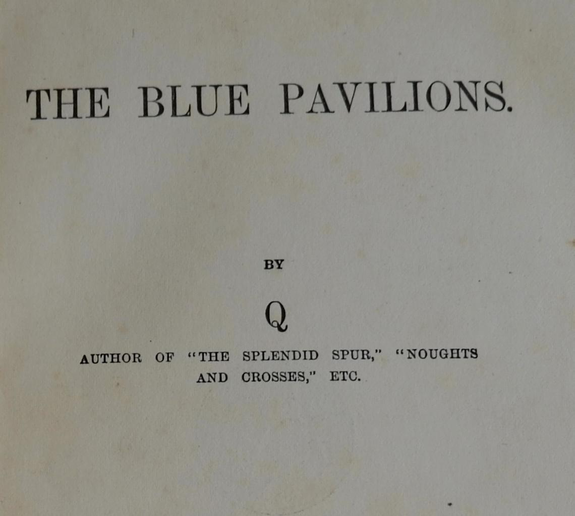 part of the title page of The Blue Pavilions