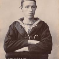 Photograph of young Cornish sailor, taken around 1900
